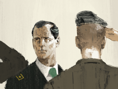 Stern Looks colour illustration wip marc aspinall