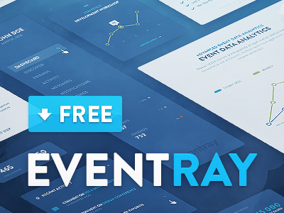 EventRay UI KIT - Free Download psd dtail freebie freebies interface bundle pack studio design ux mobile interactive