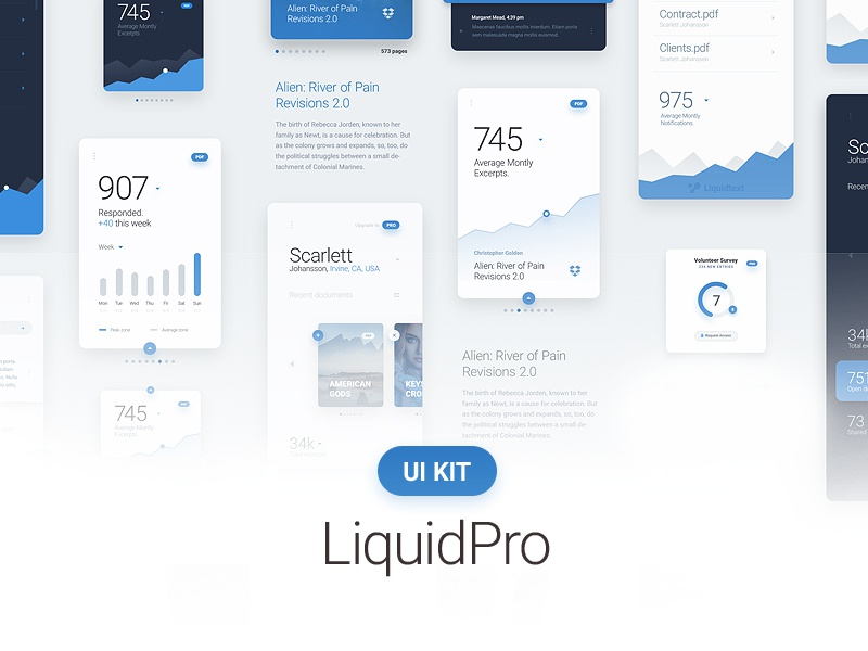 LiquidPro UI Kit - Free Download by Dtail Studio on Dribbble