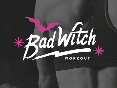 Bad Witch Workout logo branding