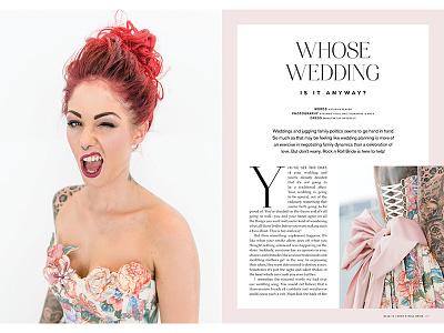 Rock n Roll Bride Magazine magazine print editorial