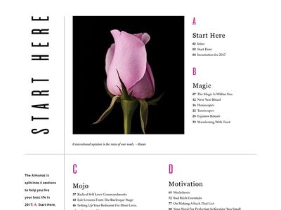 Radical Self Love Almanac editorial