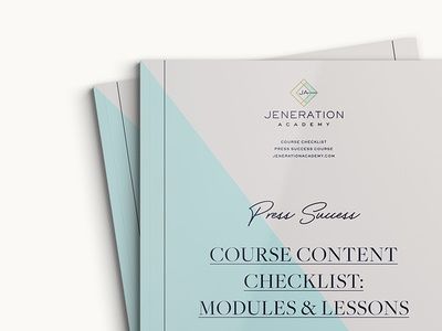 Jeneration Academy workbook collateral print