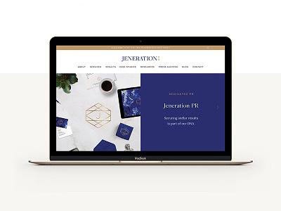 Jeneration PR Website interactive web design