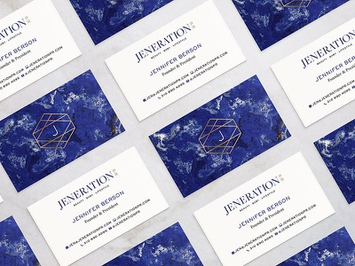 Jeneration PR Business Cards collateral print