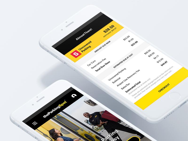 The Parking Spot - App Design checkout app ios