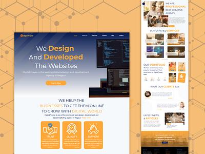 Digital Agency trending minimal digital agency branding design ux graphic design ui