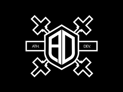 Athletic Developement Logo Animation initials intro swing ring kettlebell fitness sport 2d aftereffects logoanimated logo animation logo design