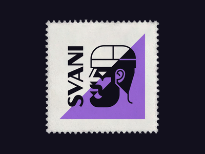 Svani svani symbol typography logo branding mark flat stamp icon logodesign vector illustration face beard man