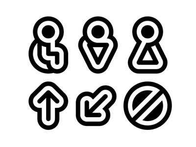 Pictograms sign prohibition arrow navigation branding icons pictograms wc woman man