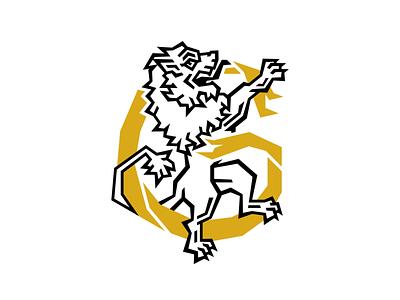 GK illustration vector mark branding logotype logo animal letter monogram logo gk monogram gk flag lion monogram