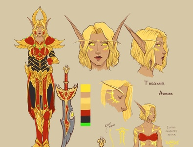 Original character design sheet