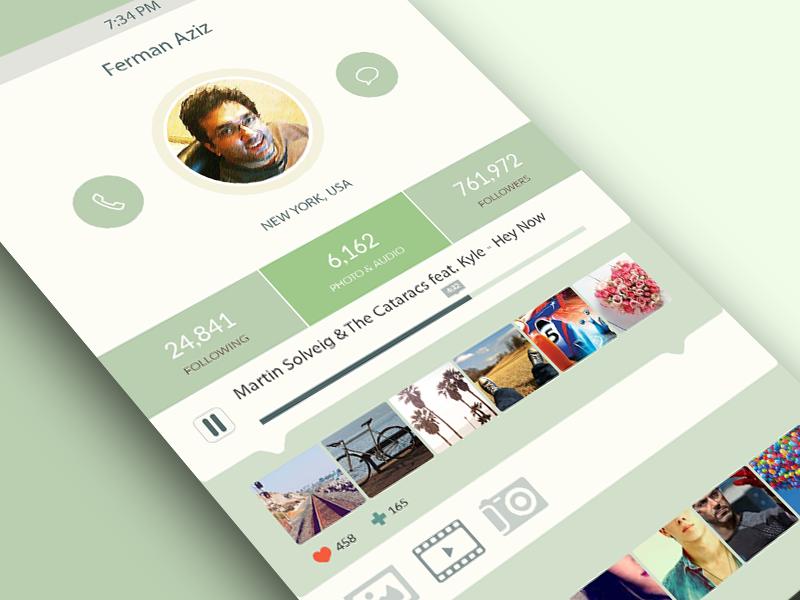 iOS7 App Design psd ios iphone app ui profile free freebie