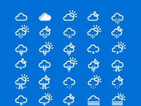 Slim weather icons large preview
