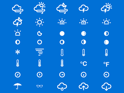 75 Slim Weather and Climate Icons - FREE free freebies weather icons vector