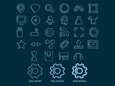 100 Stroke Icons - Vector File free freebies stroke icons png vector ai