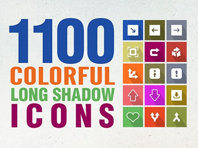 1100 Flat Long Shadow Icons icon freebies free vector icon sets web icons