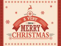 Christmas set labels decorative elements 1