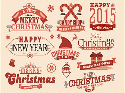FREE Christmas Set – Labels and Emblems christmas free freebie labels emblems decorative