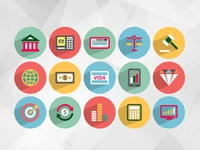 Free Flat Finance Icons