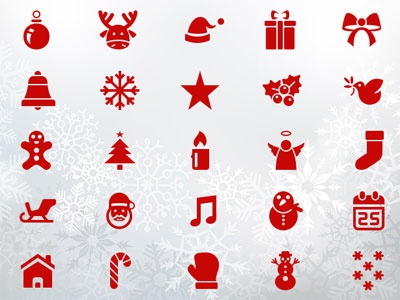 50 Pixel Perfect Christmas Icons xmas psd png ai pixel perfect icons christmas