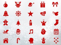 50 Pixel Perfect Christmas Icons