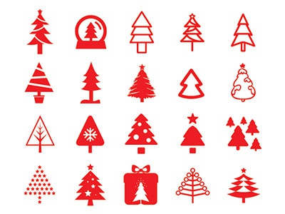80 Christmas Tree Icons - FREE Vector File christmas tree free vector icons xmas