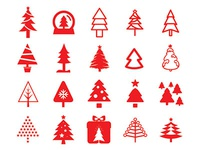 80 Christmas Tree Icons - FREE Vector File