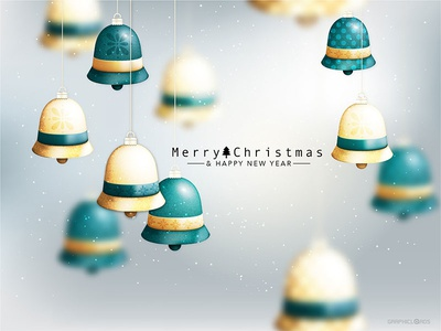 Christmas New Year Wallpaper - Vector File