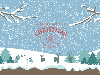 Merry Christmas Vector Wallpaper - Free! new year illustrator wallpaper xmas christmas