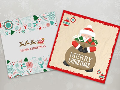 20 Christmas Greeting Cards - Free! new year illustrator greeting cards xmas christmas