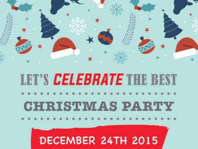 Christmas Party Flyer 2 christmas xmas flyer party psd