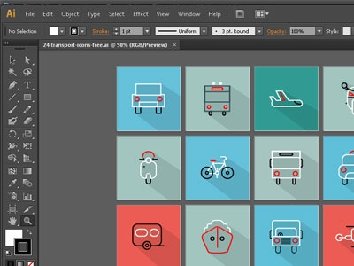 24 Transport Icons Free