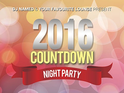 New Year Flyer - Variation 3 2016 new year flyer psd freebies free