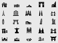 Building & Landmark Icons Free