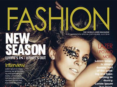 Free Fashion Magazine Cover PSD Template magazine cover fashion flyer psd freebies free
