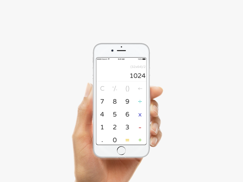 DailyUI #04 Calculator calculator dailyui