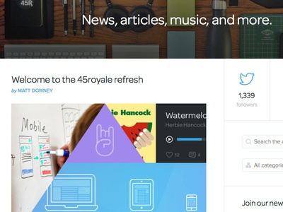 Welcome to the 45royale refresh! 45royale ui blog refresh