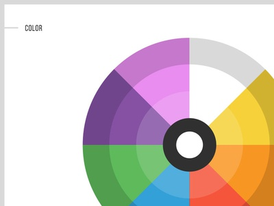 Style guide WIP style guide color wheel web design 45royale