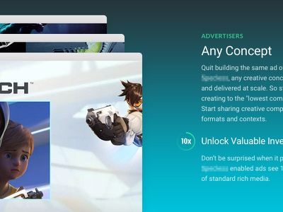 Gradients are back! 👍 overwatch gradient responsive ui icons illustration mobile web design