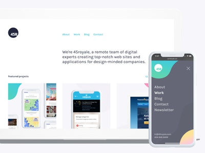 We launched the 10th version of 45royale 45royale agency launch redesign