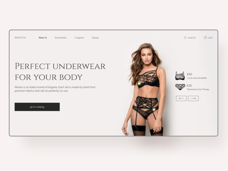 Lingerie online shop concept web ui