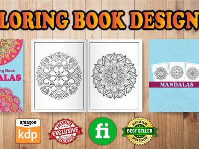 Coloring Book Design character mockup front vector corporate design design
