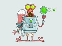 Alien a Day 05- Crabby Shackleton, loves Paddleball & Mr Pibb