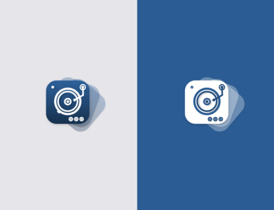 Daily UI #008 - Vinyl Record Player App Icon mobile ui app icon design app icon design dailyuichallenge