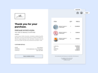Daily UI #011 - Email Receipt for an eCommerce Site illustration ui front-end development webdesign design dailyuichallenge email design email furniture store email receipt