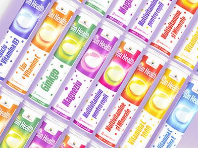 Vitamins logo packaging label vitamins nutrition branding health effervescents color