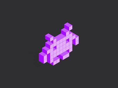 Botnet character flat design purple vector character botnet