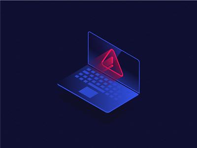 Virus Alert isometric 3d vilcu radu neon dark antivirus alert virus
