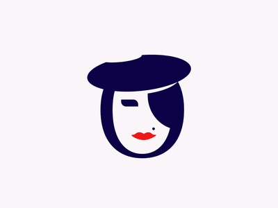 Face Symbol branding lips lashes hair design brand illustration women symbol face beauty bar girl logo